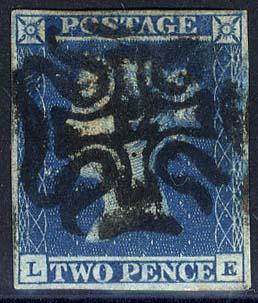1841 2d blue - Plate 3 (LE)