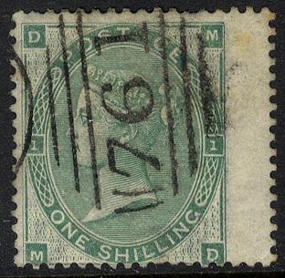 1862-64 Wmk Emblems 1s green