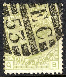 1877 4d sage green Pl.16 - FINE USED