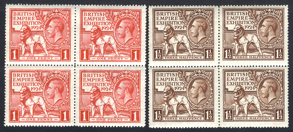 1924 Wembley Exhibition set in M blocks of four