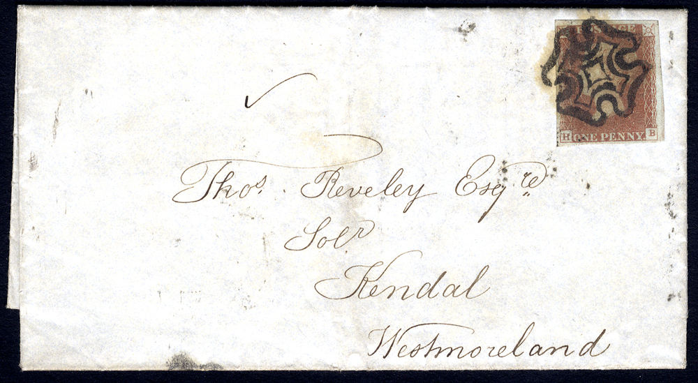 1841 cover from London to Westmoreland, franked Pl.11 HB
