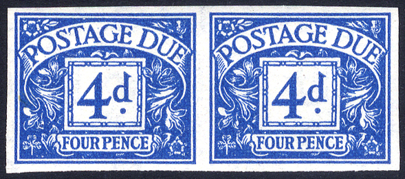1955 4d blue Imperf pair - UNMOUNTED MINT