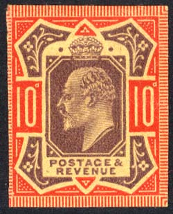 1902 dull purple & carmine Plate Proof on poor quality buff paper.