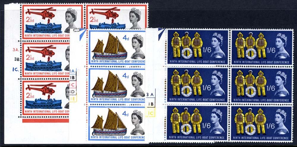 1963 Lifeboat Cylinder blocks of six, UM