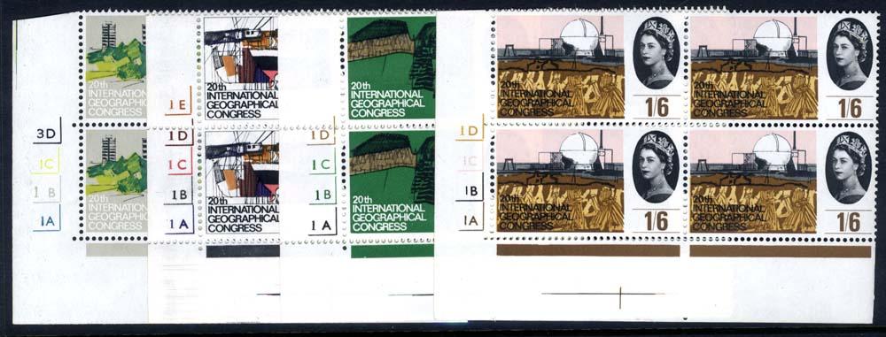 1964 Geographical Cylinder blocks of four, UM