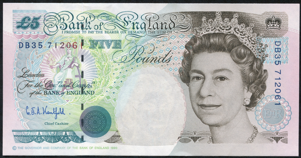 1993 Kentfield £5 Stephenson, (DB35 712061), UNC