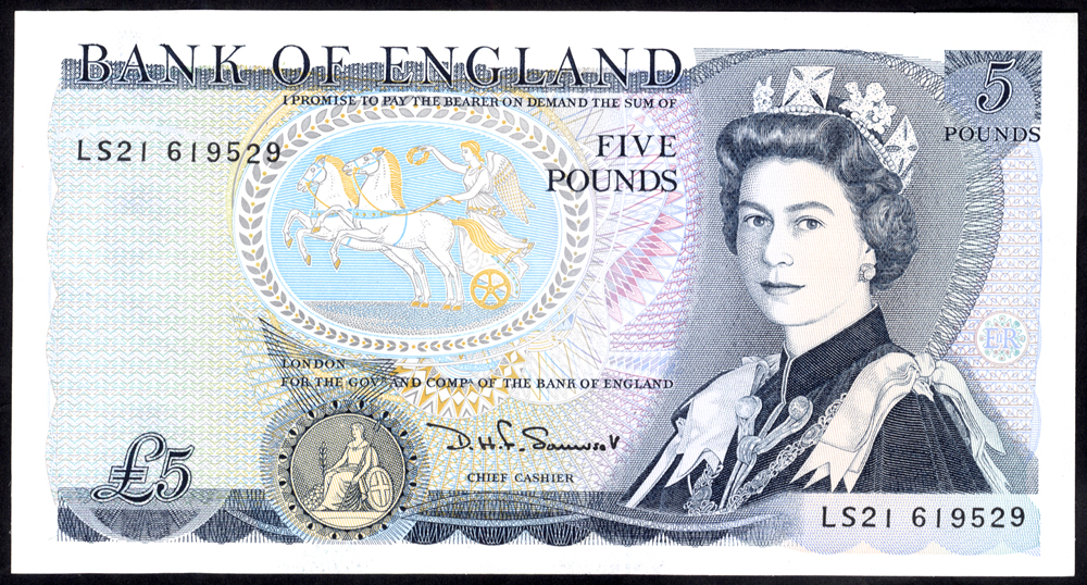 1990 Somerset £5 Wellington (LS21 619529), UNC