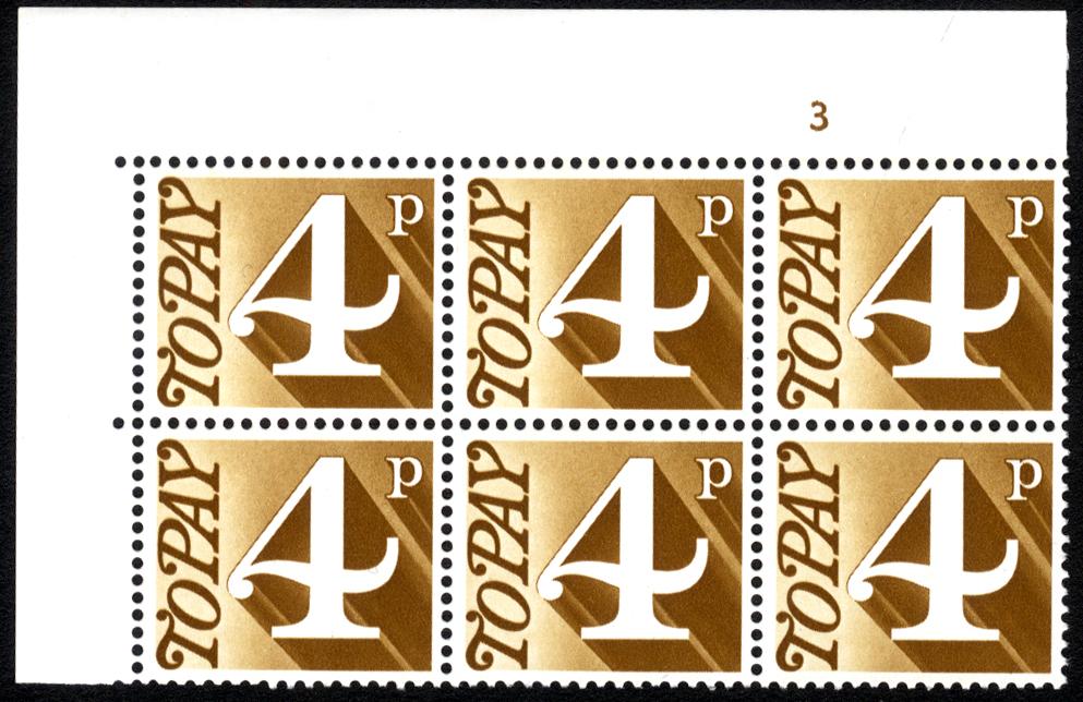 1970-76 4p Cylinder 3 block of six