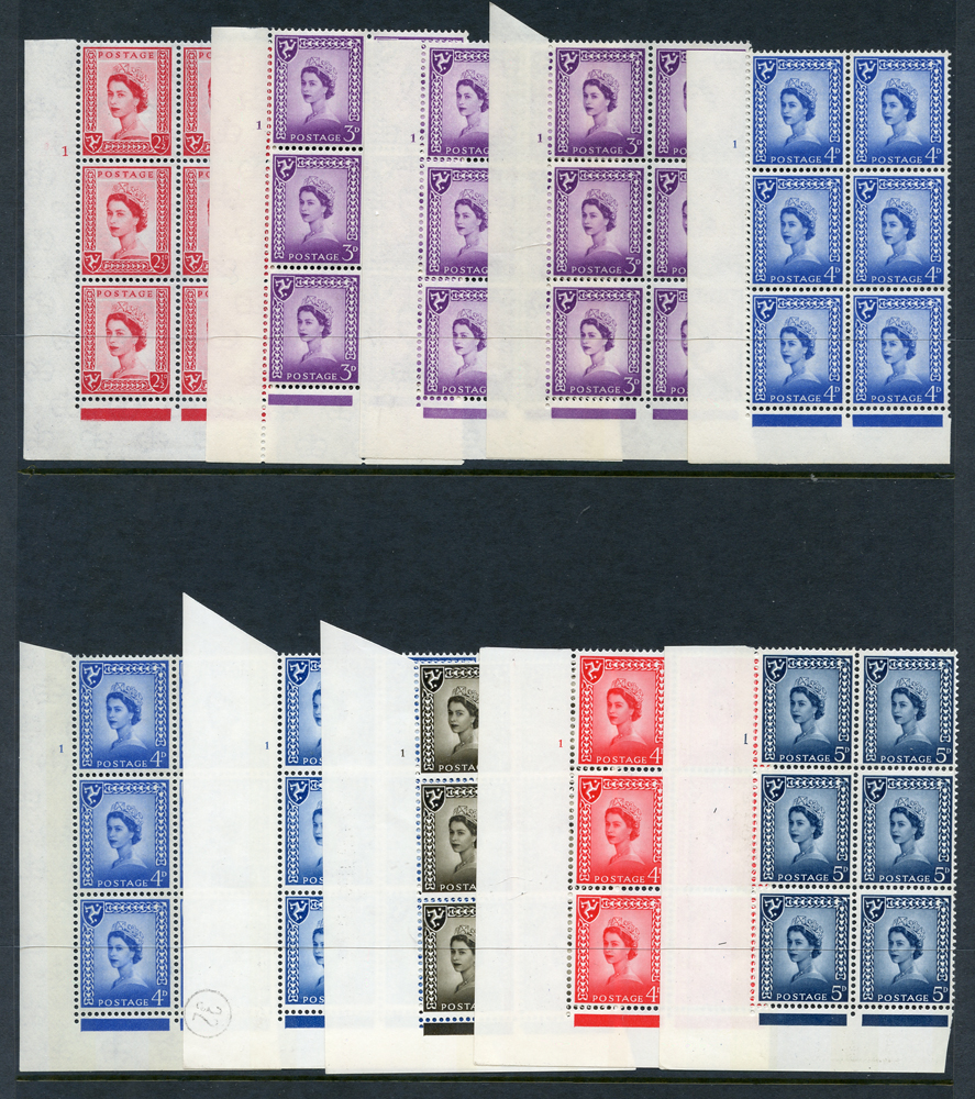ISLE OF MAN 1964-68 Cylinder blocks of six (10 different)