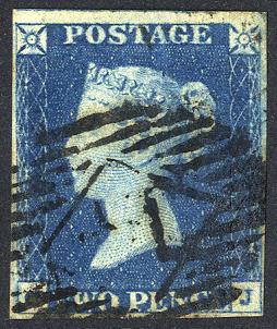 1840 2d blue - Plate 1 CJ