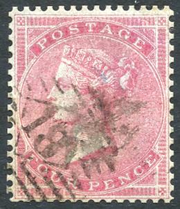 1855-57 Wmk Small Garter 4d carmine