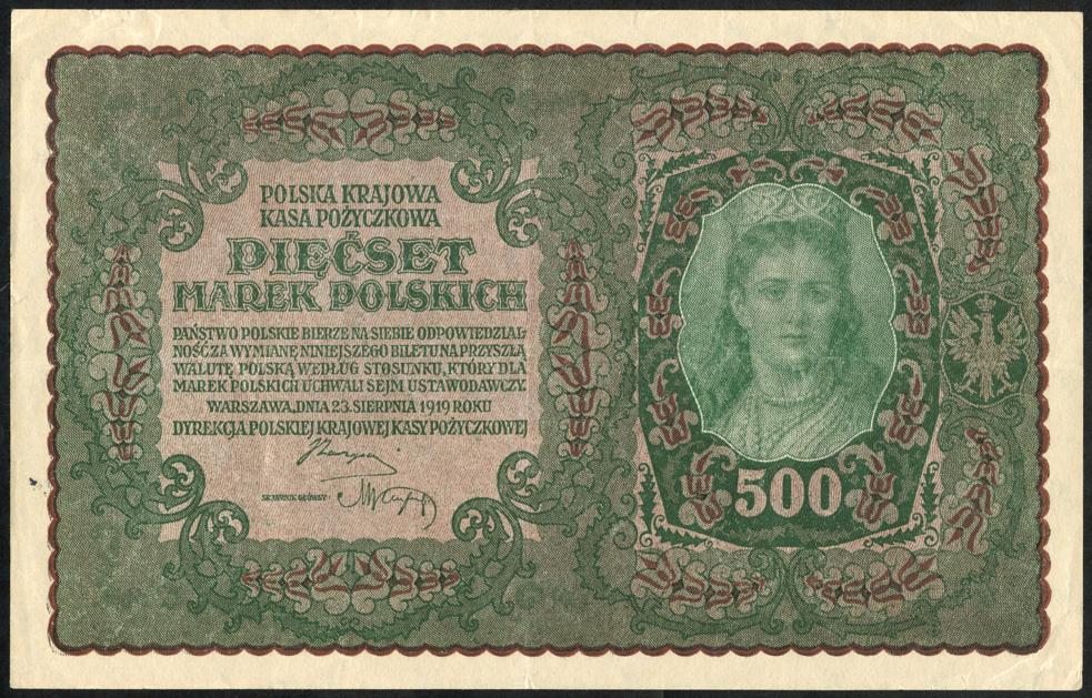 Poland 500 marek 1919