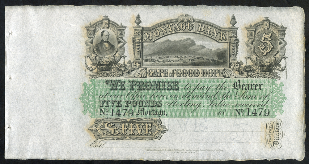 South Africa Montagu Bank £5