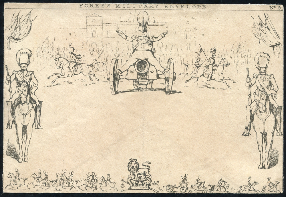 1840 'Fores's Military Envelope' No. 9, unused