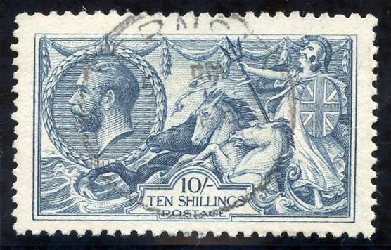 1918 Bradbury 10s dull grey-blue, SG.417