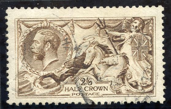 1915 De La Rue 2/6d pale yellow brown, Spec N64 (3), SG.406, Cat. £225