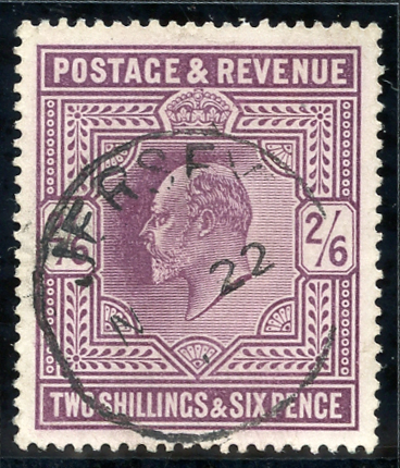 1902-10 D.L.R 2/6d slate-purple (chalky), Spec M49 (3), SG.262, Cat. £180