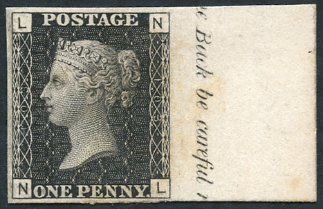 1847 Paris Exhibition 1d black Pl.103 NL, fine & scarce, SG.DP38, Cat. £3000+