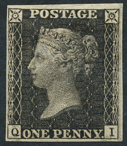 1865 (Sept) 'Royal Reprint' 1d black Pl.66 QI, fine & fresh, Spec DP35a, Cat. £3500