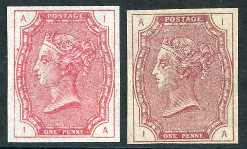 1879 McCorquodale 1d claret Tender Essay lettered IA