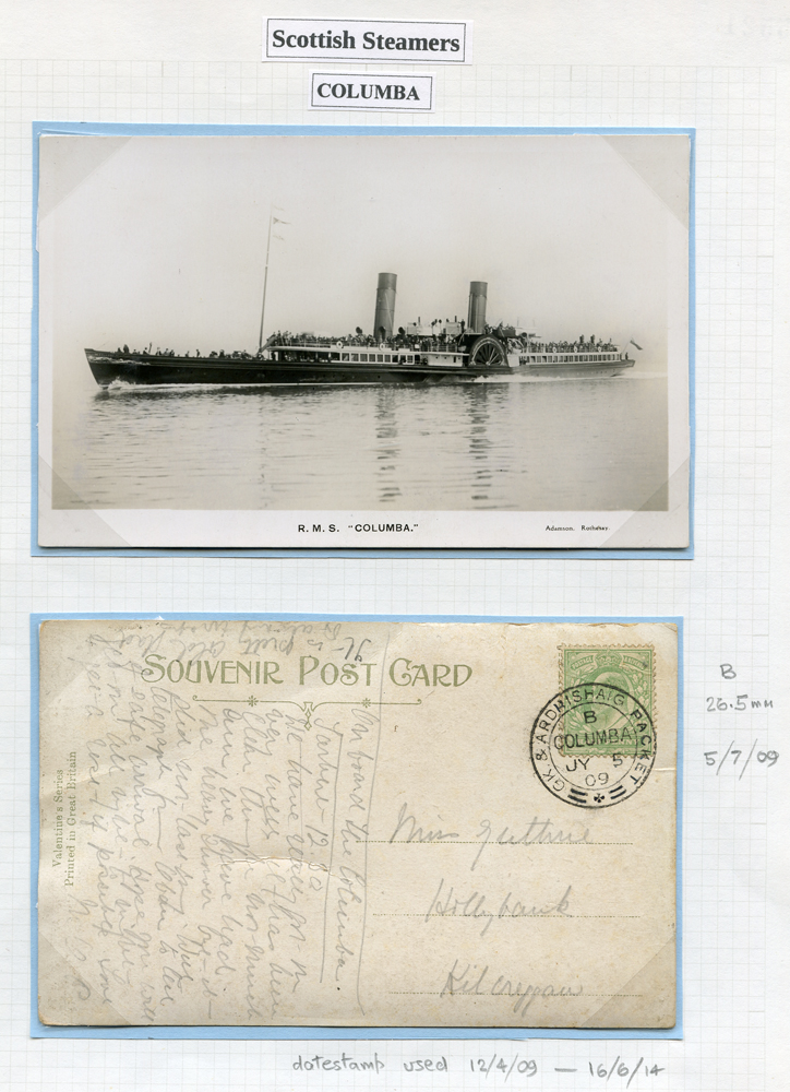 1909 picture postcard franked ½d Edward, real photo picture postcard of the vessel accompanies