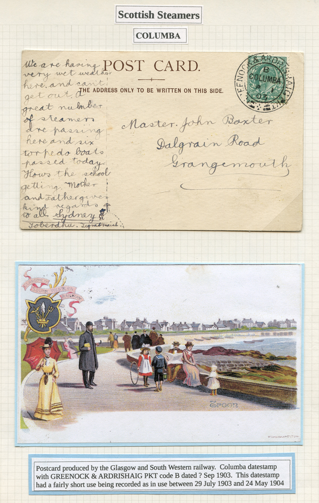 1903 picture postcard franked ½d Edward