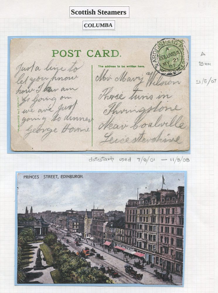 1907 picture postacrd franked ½d Edward