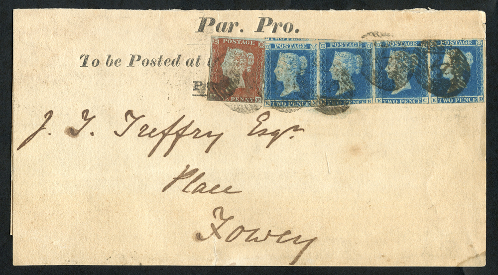 1843 wrapper inscribed Par Pro (Parliamentary Proceedings)