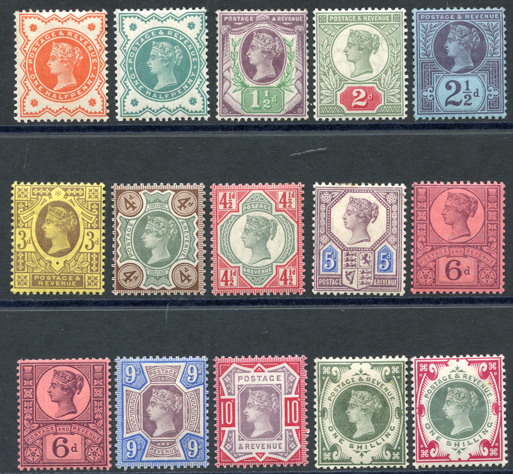 1887 Jubilee set, complete. SG.197/214