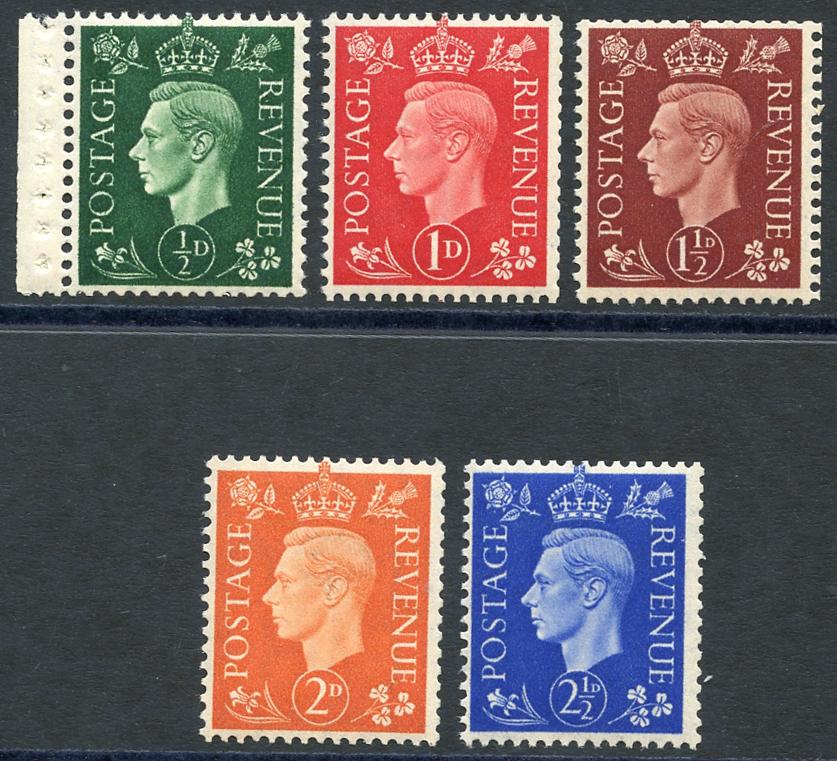 1937 dark colours set, SG.462wi/466wi