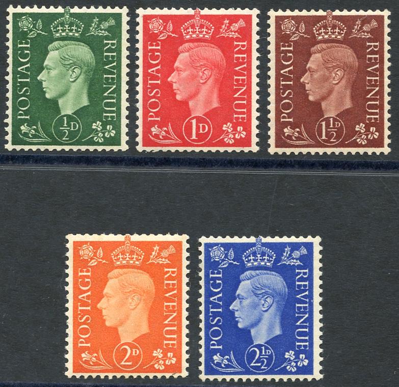 1937 dark colours set, SG.462a/6a