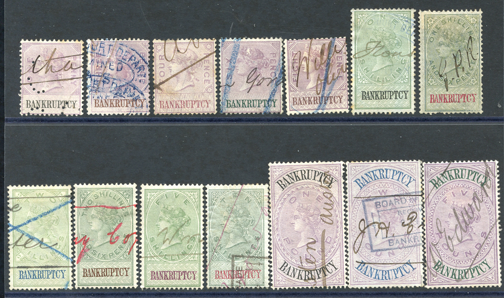 BANKRUPTCY 1889 set of 14