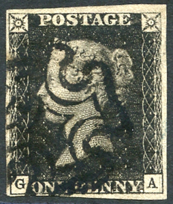1840 Plate 9 GA, fine black Maltese Cross