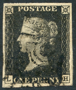 1840 Plate 8 LH, fine black Maltese Cross
