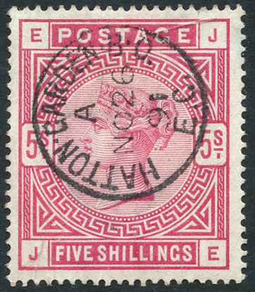 1883 5s crimson, SG.181