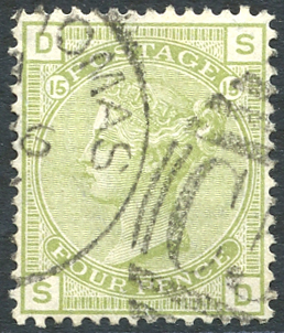 DANISH WEST INDIES - ST. THOMAS 1877 4d sage green