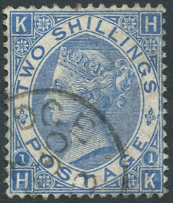 1867-80 wmk Spray 2s deep blue, SG.119. Cat. £240+.