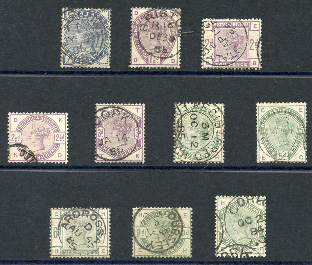 1883 lilac & green set, SG.187/196. Cat. £1720++