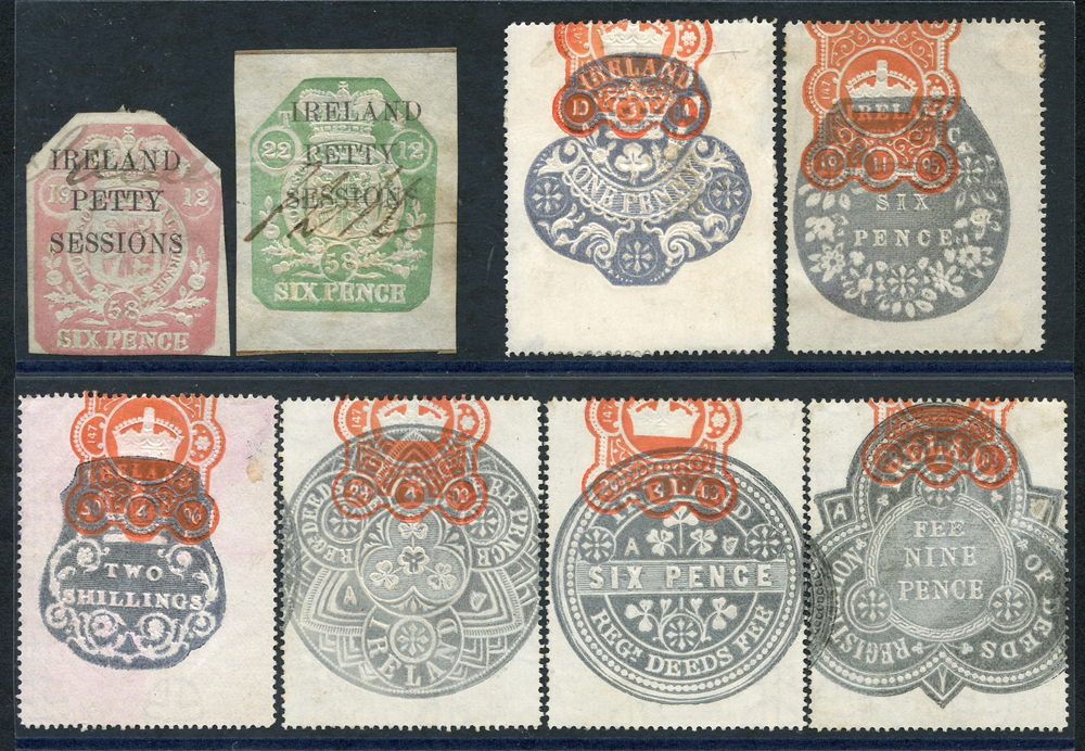 IRELAND REVENUE PETTY SESSIONS 1858, STAMP DUTY 1858-76, REGISTRATION OF DEEDS 1864