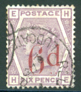 1880-83 wmk Imperia Crown 6d on 6d lilac