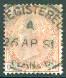 1880 wmk spray 1s orange brown Plate 13