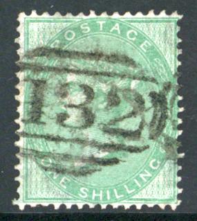 1856 1s deep green