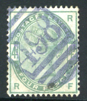 1883 4d dull green, well centred