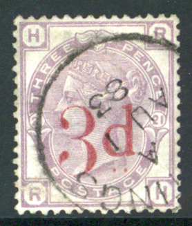 1880-83 wmk Imperial Crown 3d on 3d lilac