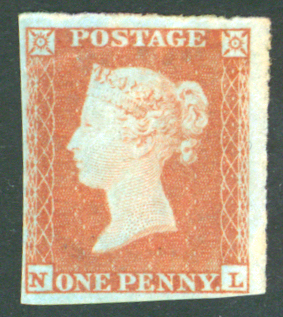 1841 1d red brown lett NL