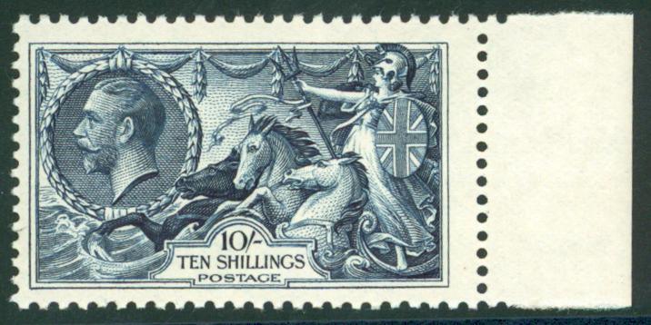 1934 Re-engraved 10s indigo, SG.451