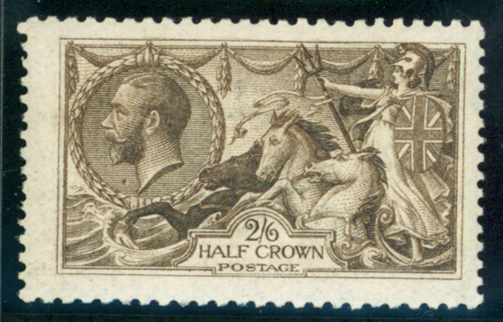 1915 D.L.R 2/6d sepia (seal brown)