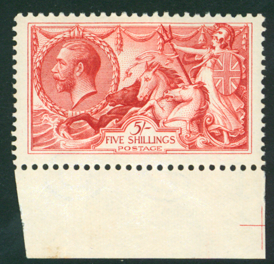 1918 Bradbury 5s rose red, Cat. £32