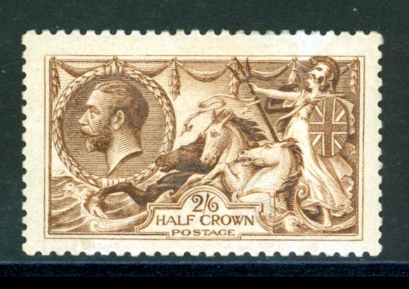 1915 D.L.R. yellow brown, Cat.£550