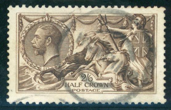 1913 Waterlow 2/6d sepia-brown